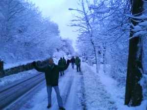Jonny Blair enjoying the snow in San Marino