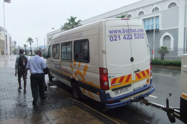 Baz bus from Durban to Golela in South Africa