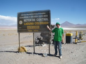 Jonny Blair at the Laguna Colorada entrance