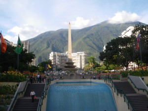 Plaza Altamira in Caracas - near enough to the Suriname Embassy