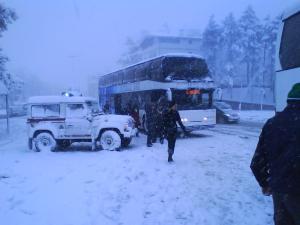 Jonny Blair on a bus from Rimini to San Marino
