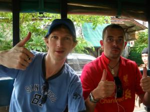 Jonny Blair and Chaz Fitzsimmons in Laos
