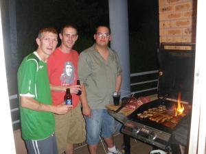 Jonny Blair Ruben Funai and Daniel Evans in Australia