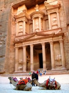 World Travellers on Don't Stop Living - John and Andrea in Petra, Jordan