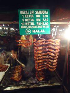 spicy chicken at kota kinabalu borneo