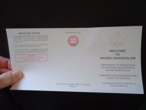 immigration form brunei