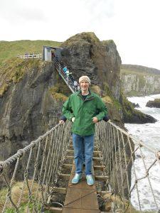 Jonny Blair Carrick a Rede Rope Bridge Northern Ireland