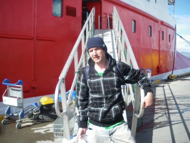 Boarding the MS Expedition for Antarctica in 2010