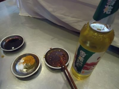 spices and a beer in jianshui