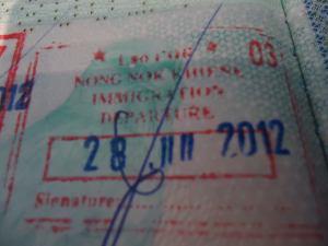 laos exit stamp nong nok khieng
