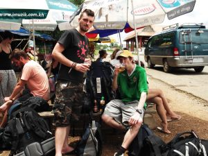 beers at the cambodian border