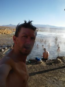 Phew! hot in Bolivian hot springs