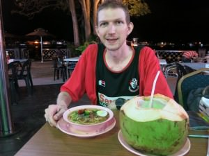 jonny blair in brunei eating soto biasa