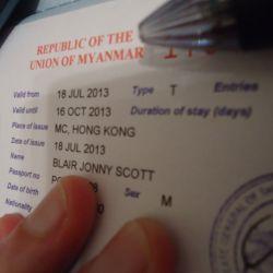 getting a Myanmar visa in Hong Kong