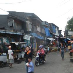 jakarta indonesia slums by the harbour