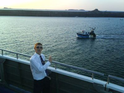 working for condor ferries at st malo