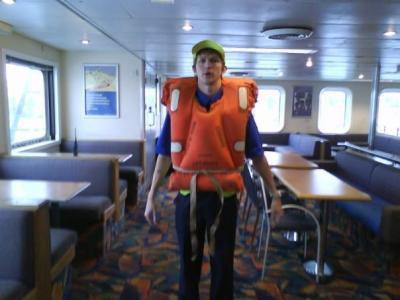 lifejacket working on car ferries