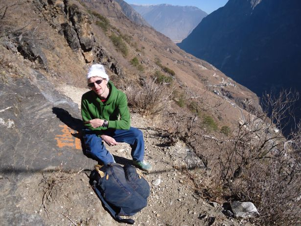 tibet sign upper trail hike
