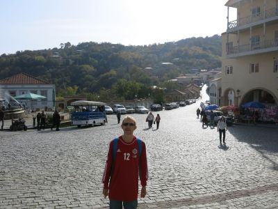 On the streets of Sighnaghi.