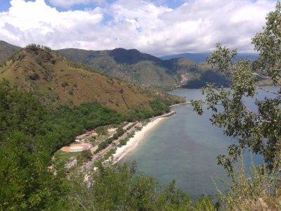view of dili from cristo del rei