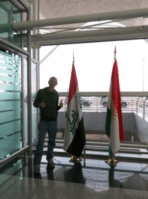 At Erbil International Airport in Iraq