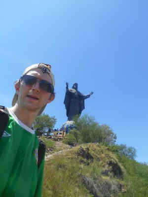 backpacking jesus statue dili