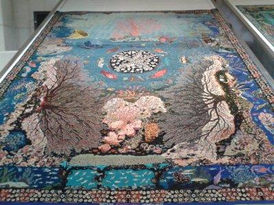 Inside the Carpet Museum, Mashhad.
