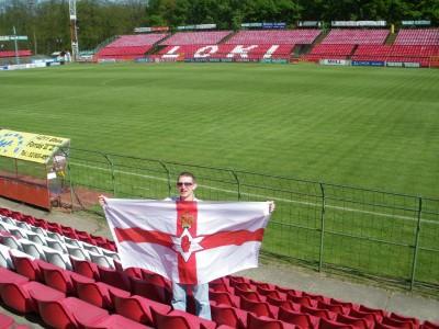 Inside Loki Stadium, Debrecen, Hungary