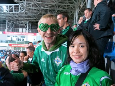 Supporting Northern Ireland in Baku, Azerbaijan