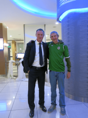 When the Northern Irish backpacker met the Northern Ireland football manager in Adana, Turkey