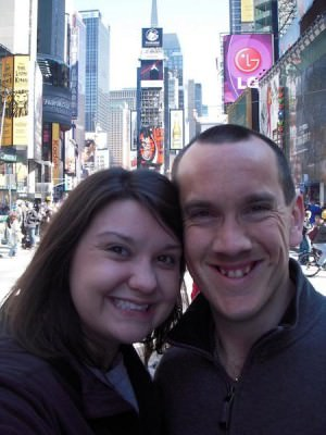 World Travellers: Heather and Chris in Times Square - NYC