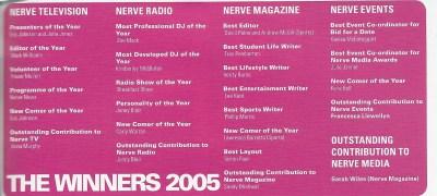 Nerve Media Awards 2005