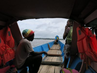World Borders: the boat from French Guyana to Suriname.