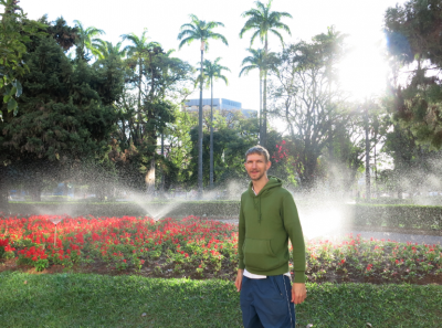 Backpacking in Brazil - Liberty Square in Belo Horizonte.