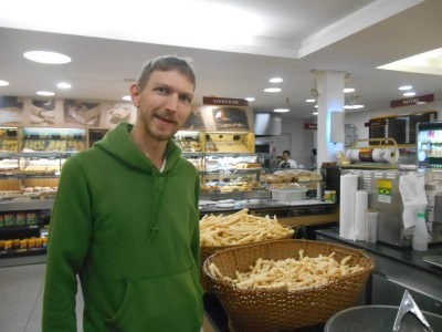 In the local bakery in Belo Horizonte.