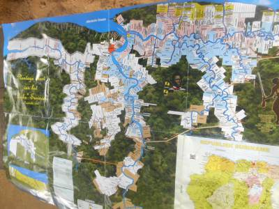 A cool map Njoek showed us of the Sugar Cane Plantations in Suriname.