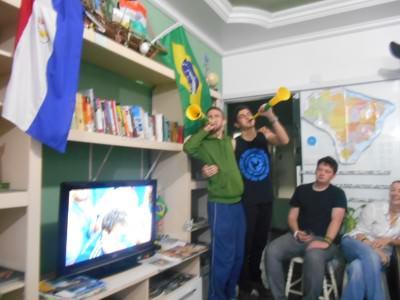 Favuzelas with Leonardo at the final whistle!