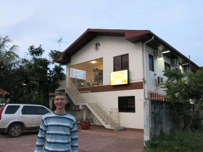 Outside Fajalobi and the Etienne's Unique Apartments.