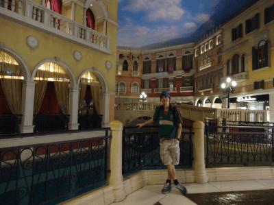 Inside the Venetian in Macau.