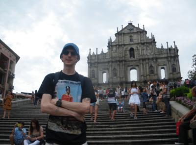 At St. Paul's Ruins in Macau.