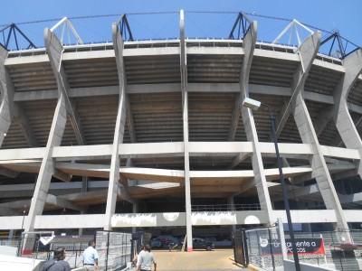 Arrival at Estadio Azteca.