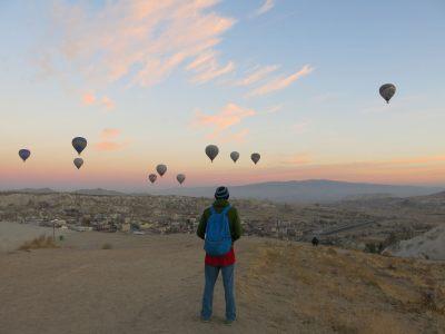 Admiring Cappadocia, Turkey.
