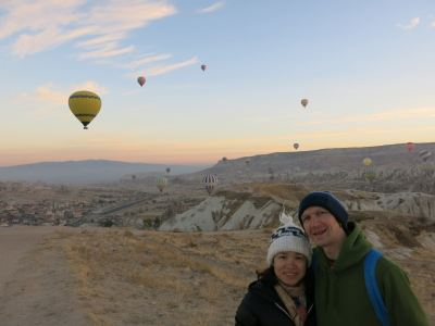 We stayed in Goreme for sunrise at Cappadocia.