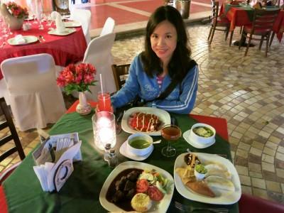 Dinner in Plaza Real, San Cristobal de las Casas.