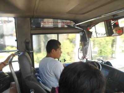 On the minibus to Puerta Del Diablo