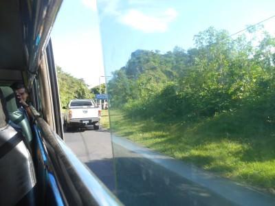 On the bus back to San Salvador.