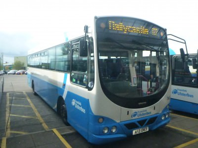 Bus 172 to Ballycastle stops by Ballintoy.