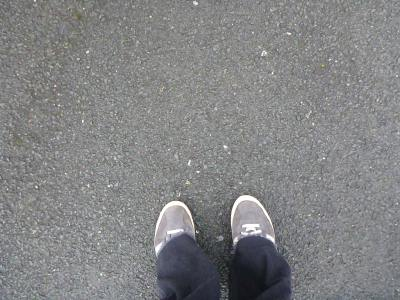 Standing in my old P7 class. Where it was.
