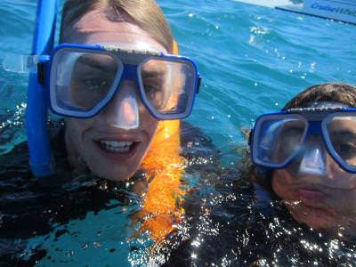 World Travellers: Jenn and Jack at the great Barrier Reef