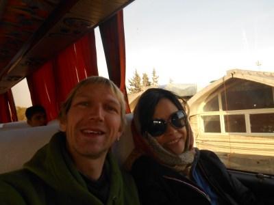 On the bus to Lake Orumiyeh.